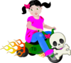 Bad Biker Girl Clip Art
