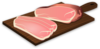 Sliced Ham Cutting Board Clip Art
