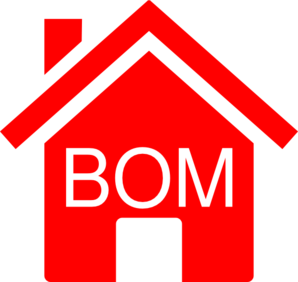 Simple Red Bom House Clip Art