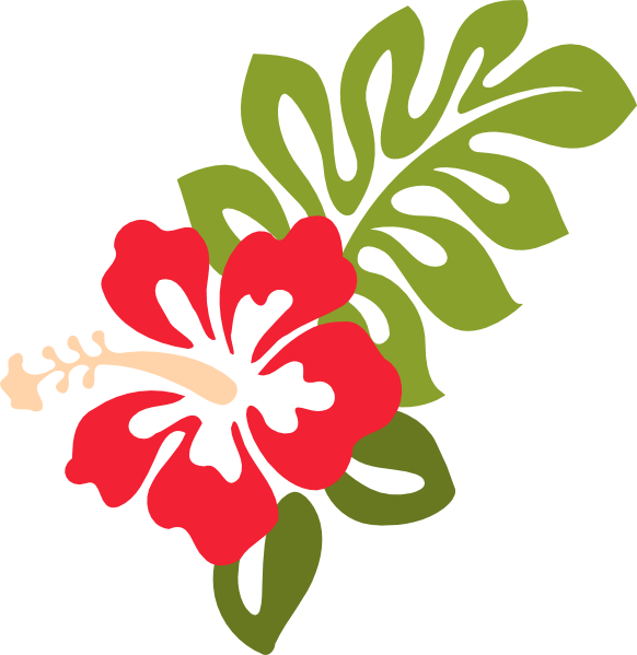 Red Hibiscus Clip Art at Clker.com - vector clip art online, royalty ...