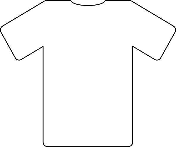 Line Art Jersey : Free coloring pages of blank tee shirt