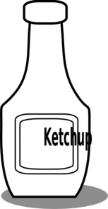 Ketchup Black And White Clip Art
