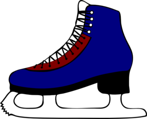 ice skating clip art at clker com vector clip art online royalty rh clker com ice hockey skates clipart Ice Skate Clip Art Outline