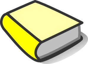 Yellow Book Reading Clip Art