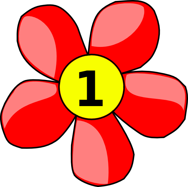 Black Flower 3 Clip Art At Clker Com: Counting Flower Clip Art At Clker.com