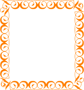 Curly Border Orange Clip Art