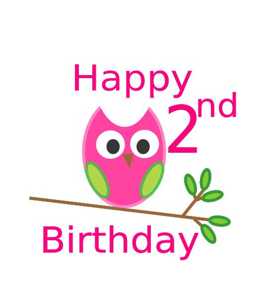 Owl 1st Birthday Clip Art At Clker.com