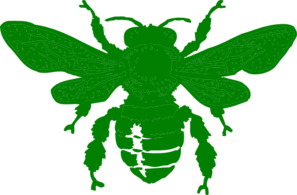 Green Bee Clip Art