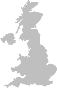 Uk, Map, Vantage Clip Art