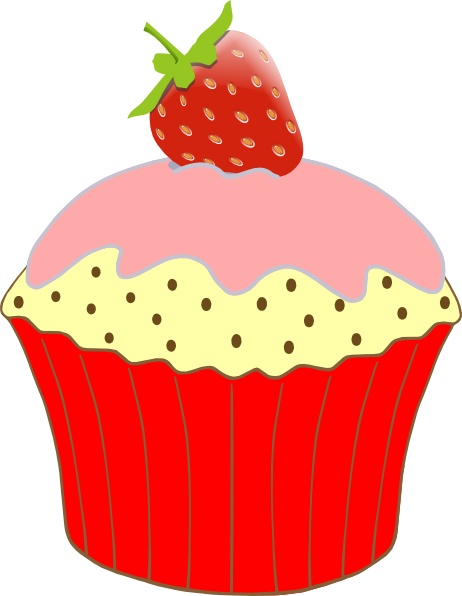 Free Cupcake Clipart : Strawberry Cupcake Clip Art at Clker.com - vector clip art ...