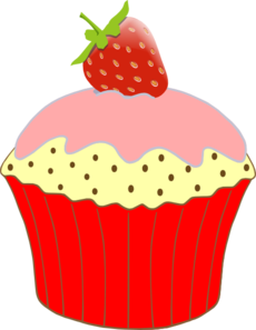 strawberry cupcake clip art at clker com vector clip art online rh clker com