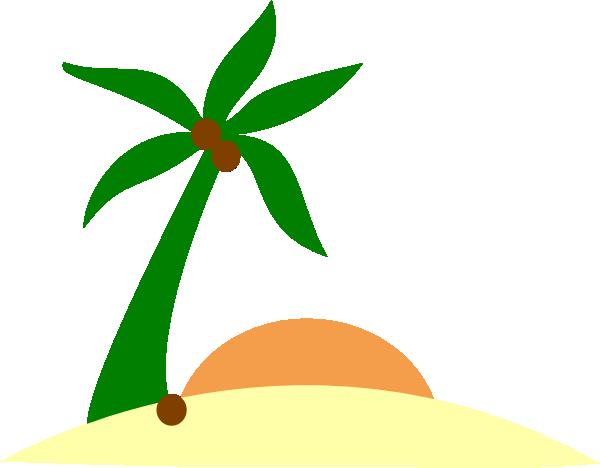 Palm Tree On Island Clip Art at Clker.com - vector clip ...