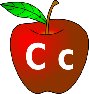 Apple With C C Clip Art