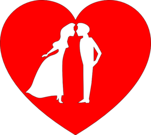 Heart With Couple Kissing Clip Art