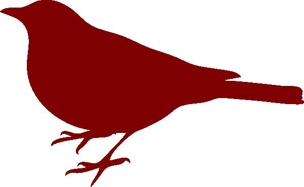 Bird Silhouette Small Red Clip Art at Clker.com - vector ...
