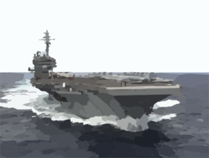 Uss Kitty Hawk (cv 63) Steams At A High Rate Of Speed, During Her Transit From San Diego, Calif. To Pearl Harbor, Hawaii Clip Art