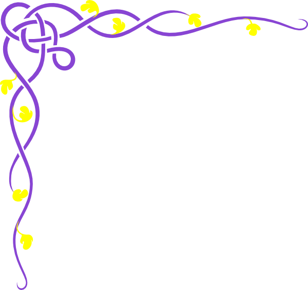 Purple vine yellow flower clip art at clker vector clip art download this image as mightylinksfo
