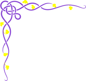 Purple Vine Yellow Flower Clip Art