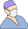 Doctor Wearing Sanitary Mask Clip Art