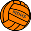 Orange Volleyball Clip Art