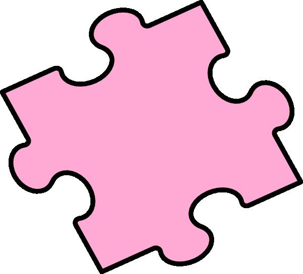 pink puzzle piece clip art at clkercom vector clip art