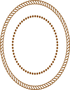 Oval Rope Border - Brown Clip Art