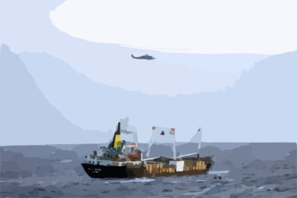 Sh-60 Helicopter Observes Merchant During Mio Clip Art