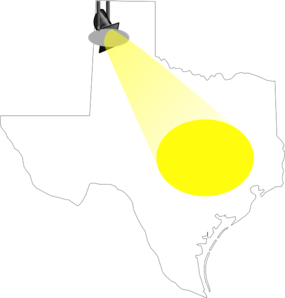 Spotlight On Texas Clip Art