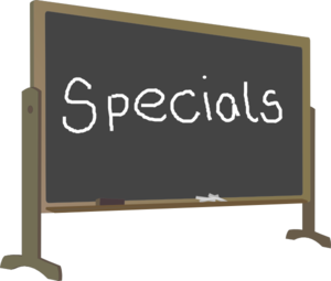 Chalk Board Specials Clip Art