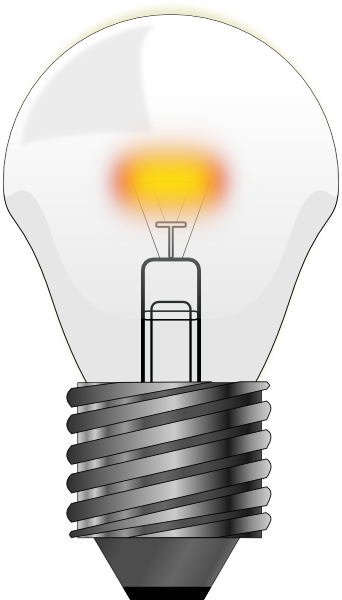 Clear Lightbulb Clip Art At Clker Com Vector Clip Art