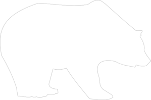 Bear For Laser Cutout Clip Art