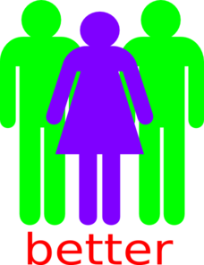 Boy And 2 Girls Stick Figure - Better Clip Art