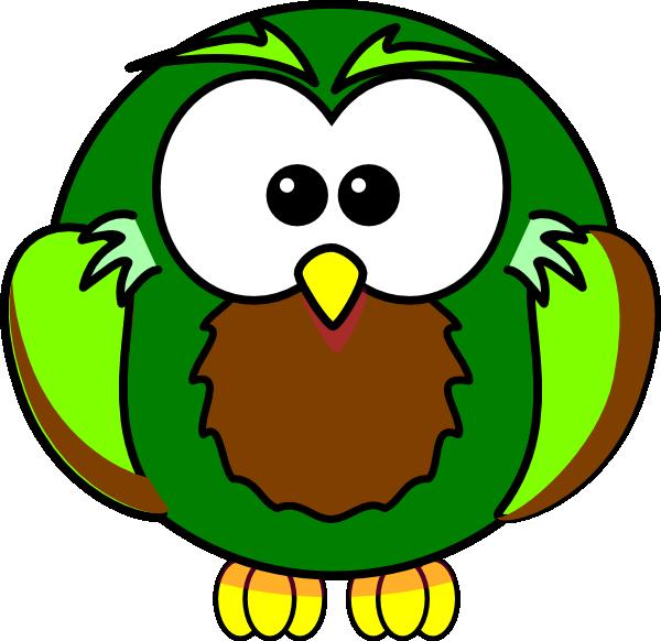 Dark Green Owl Clip Art at Clker.com - vector clip art ...