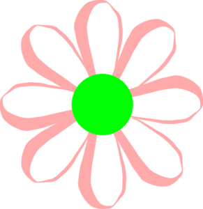 Pink And Green Daisy Clip Art