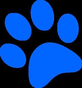 blue paw print clip art at clkercom vector clip art