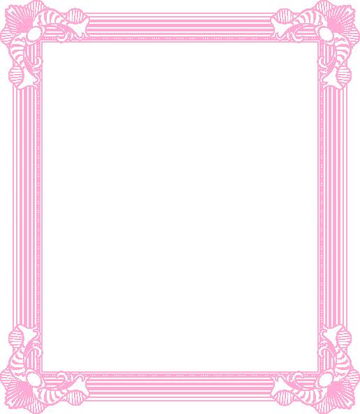 Frame Pink Clip Art At Clker Com Vector Clip Art Online