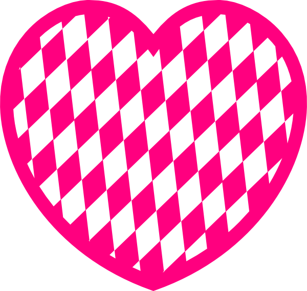 pink heart with diamond pattern clip art at clkercom
