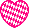 Pink Heart With Diamond Pattern Clip Art