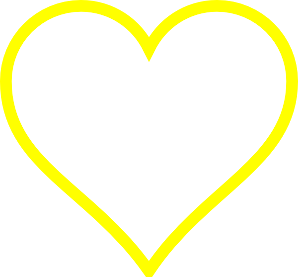 clip art yellow heart - photo #32