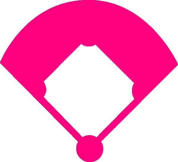 baseball field pink clip art at clker com vector clip art online rh clker com