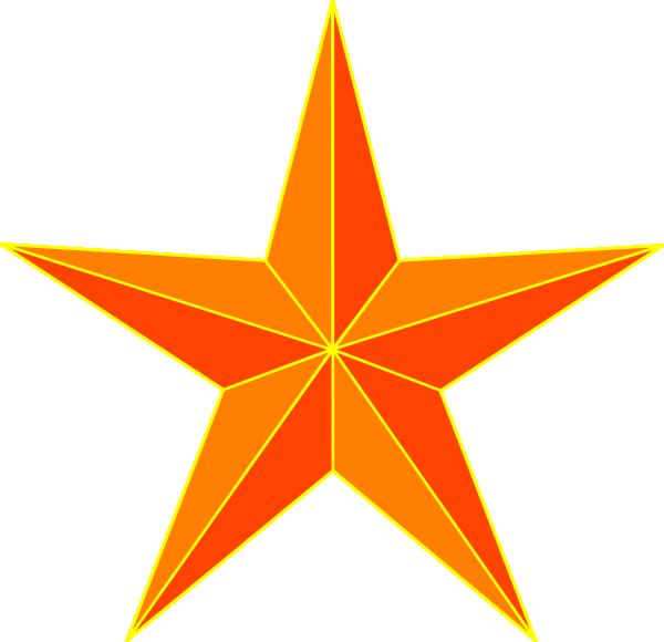 orange star clip art at clker com vector clip art online royalty rh clker com Silver Star Clip Art Yellow Star Clip Art