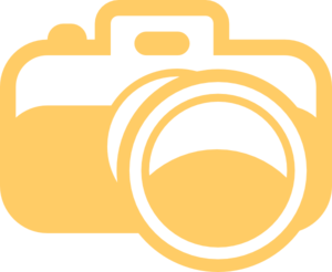clipart orange camera
