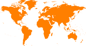 World Map - Orange Clip Art