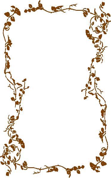 Vine Border In Brown Clip Art at Clker.com - vector clip art online, royalty free & public domain