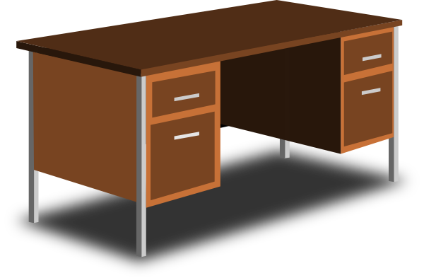 an office desk clip art at vector clip art online royalty free public domain. Black Bedroom Furniture Sets. Home Design Ideas