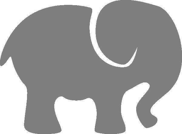 Elephant grey. Gray clip art at