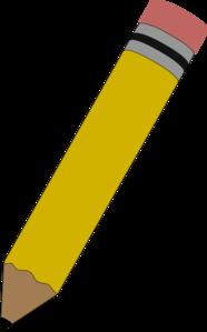 pencil clip art at clker com vector clip art online royalty free rh clker com free clipart of a pencil clipart of a pencil sharpener