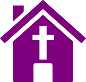 Purple Church House Clip Art