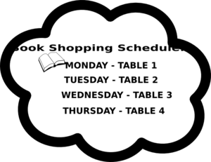 Book Shopping Schedule Clip Art
