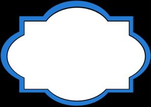 blue frame label clip art at clker com vector clip art online rh clker com clip art labels vintage clip art label shapes